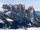 Masiv bájného pohoří Schlernu