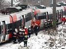 Ve Vídni se srazily dvě vlakové soupravy S45. (21. ledna 2013)