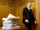Vít Bárta u Obvodního soudu pro Prahu 5. (23. ledna 2013)