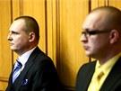 Vít Bárta a Jaroslav Škárka u Obvodního soudu pro Prahu 5. (23. ledna 2013)