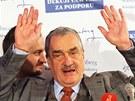 Karel Schwarzenberg uznal porážku ve druhém kole prezidentské volby. (26. ledna