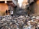 Aleppo, Sýrie (leden 2013)