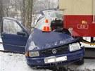 """Div, že řidič z nehody s motorákem vyvázl """"jen"""" s těžkým zraněním. (22. ledna"""