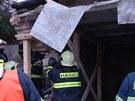 V Bučovicích na Vyškovsku narazilo osobní auto do garáže a porušilo její