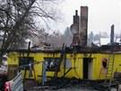 Požár zničil rodinný dům v Červeném Kostelci (24. 1. 2013)