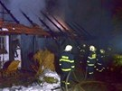 Požár stodoly a stáje v Kopřivnici