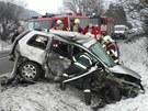 K vážné nehodě došlo mezi Milonicemi a Lažany na Blanensku