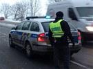 Srážka autobusu a osobního auta nedaleko Buštěhradu(24. ledna 2013).