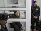Marija Aljochinová během lednového slyšení před soudem. Žádala o přerušení
