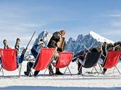 Swing na sněhu