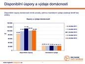 ING Bank Svět spoření - Disponibilní úspory a výdaje domácností