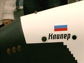 Maketa nerealizovan� rusk� pilotovan� lodi Kliper na v�stav� ILA v roce 2006