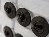 Keramické páčkové vypínače působí jako efektní estetický prvek.