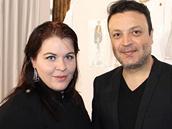 Módní redaktorky OnaDnes.cz Cindy Kerberová s módním návrhářem Zuhairem Muradem