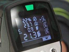 Shora: relativní vlhkost vzduchu, teplota v místnosti, teplota rosného bodu,