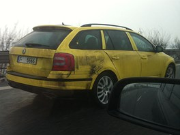 Prototyp Škody Octavie Combi RS na hradecké dálnici