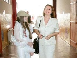 Miloš a Ivana Zemanovi doprovodili první školní den dceru Kateřinu na víceleté