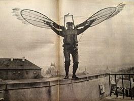 Nejslavnější snímek Miroslava Hucka nazvaný Křídla pana Makovičky pochází z
