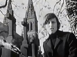 V�clav Neck�� v klipu p�sn� Soud (1969)