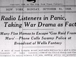 List New York Times o hře píše na titulní stránce z 31. října 1938.