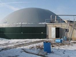 V areálu bioplynové stanice v Chotětově na Mladoboleslavsku v sobotu 19. ledna