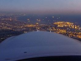 Večerní návrat – záliv a oblast přístavu Long Beach