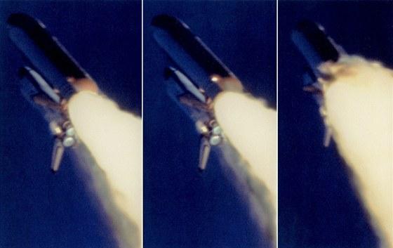 Poslední okamžiky před ničivým výbuchem Challengeru