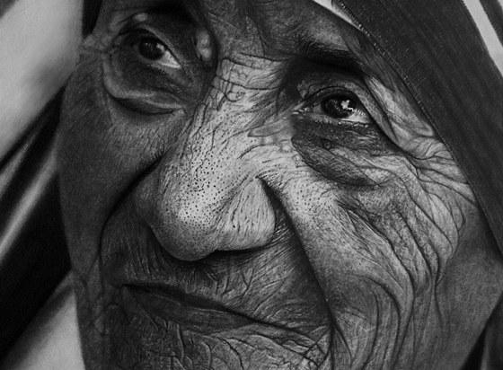 Matka Tereza - kresba Kelvina Okafora