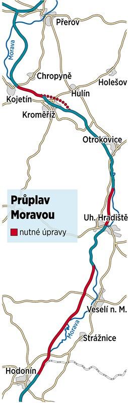 Mo�n� trasa kan�lu Dunaj-Odra-Labe.