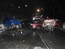 Dopravní nehoda na Šumpersku si v úterý 29. ledna vyžádala těžká zranění tří