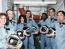 Posádka nešťastného raketoplánu Challenger (zleva): Christa McAuliffeová,
