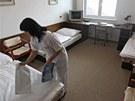 Standardně zařízené pokoje v penzionu Vrchovina. Bydlet v nich bude česká