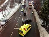 Nehoda v Českoskalické ulici v Náchodě, při níž se místostarostka Náchoda