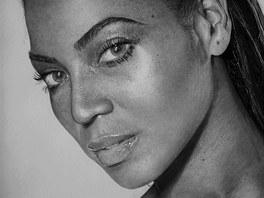 Portr�t Beyonc� nakreslil tu�kou Kelvin Okafor.