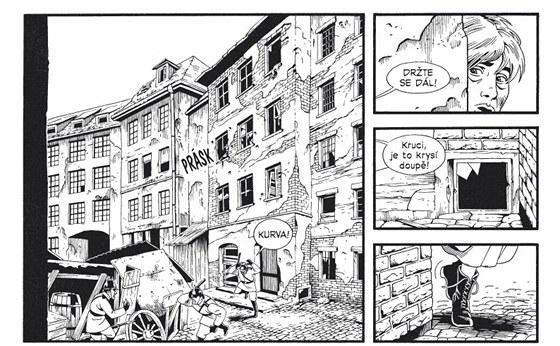Ukázka z komiksu Berlín - Město kouře