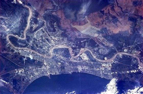 Obrázek New Orleans z ISS