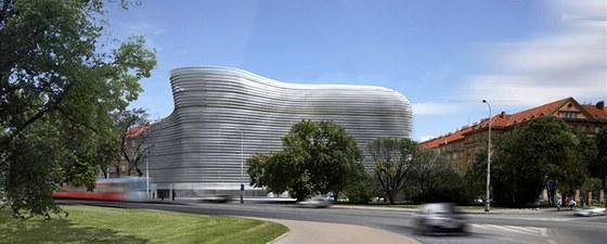 """Nové budově se začalo přezdávat """"talíř palačinek""""."""