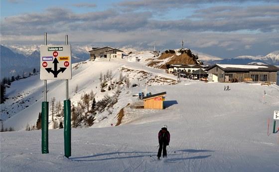 Pohled od horní stanice Millenium Expressu