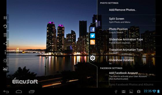 Fotorámeček z tabletu vytvoří speciální aplikace, dostupné pro zařízení s