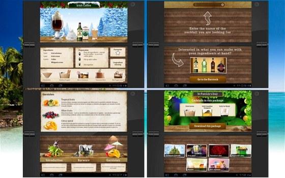 Zkontrolujte domácí bar a aplikace Cocktail Flow Tablet vám pomůže namíchat