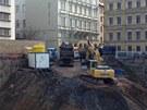 Na staveništi ve Spálené objevili dělníci granát.