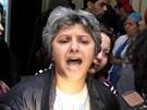 Vdova po předákovi tuniské opozice Šukrí Bilajdovi (6. února 2013)