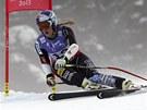 Lindsey Vonnov� na trati Superob��ho slalomu na MS v rakousk�m Schladmingu.