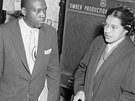 Rosa Parksov� s advok�tem Charlesem D. Langfordem