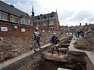 Místo pod parkovištěm v centru Leicesteru, kde se našly ostatky Richarda III.
