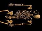 Ostatky krále Richarda III., jak je veřejnosti představila Univerzita z