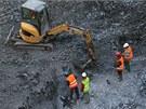 Dělníci našli na staveništi obchodního centra v centru Prahy nevybuchlý