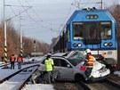 Tragická nehoda na železničním přejezdu v Ostravě-Třebovicích, při které