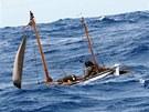 Loď nesoucí jméno Shackletonovy vnučky Alexandry na jednom z výstižných záběrů,