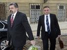 Ředitel prezidentské kanceláře Jiří Weigl (vlevo) a šéf Správy Pražského hradu